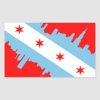 CHICAGO - SCUBA RECTANGULAR STICKER