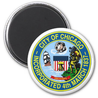 Chicago Seal 6 Cm Round Magnet