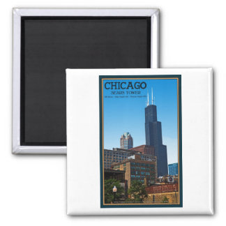 Chicago - Sears Tower Square Magnet