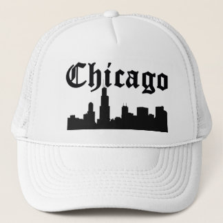 Chicago Silhouette Skyline Trucker Hat