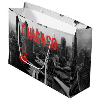 Chicago Skyline1930's from Above view Photograph Large Gift Bag
