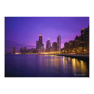 Chicago Skyline 13 Cm X 18 Cm Invitation Card