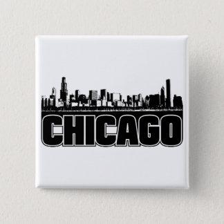 Chicago Skyline 15 Cm Square Badge