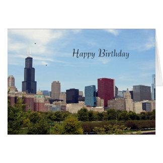 Chicago Skyline 208 Birthday Card