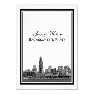 Chicago Skyline #2 Etched Framed V Bachelorette