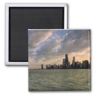 Chicago Skyline 2 Square Magnet