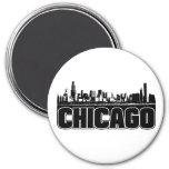 Chicago Skyline 7.5 Cm Round Magnet