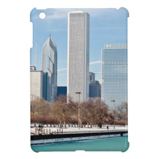 Chicago skyline across frozen Lake Michigan Cover For The iPad Mini