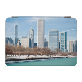 Chicago skyline across frozen Lake Michigan iPad Mini Cover