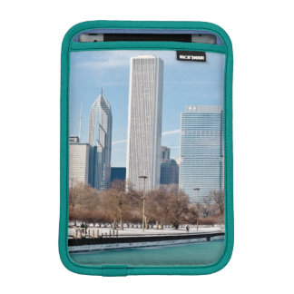 Chicago skyline across frozen Lake Michigan iPad Mini Sleeve