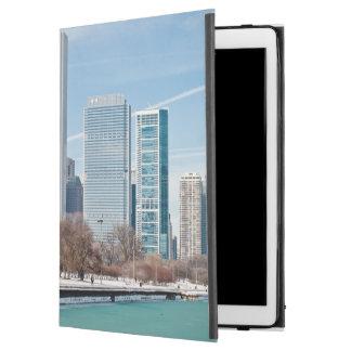 "Chicago skyline across frozen Lake Michigan iPad Pro 12.9"" Case"