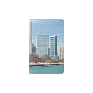 Chicago skyline across frozen Lake Michigan Pocket Moleskine Notebook