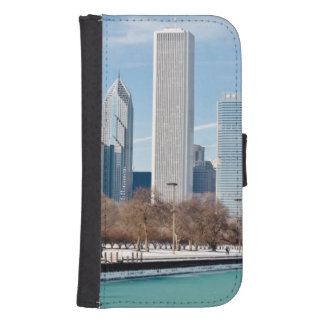Chicago skyline across frozen Lake Michigan Samsung S4 Wallet Case