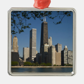 Chicago skyline and Lake Michigan, Lake Shore Christmas Ornament