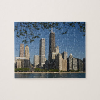 Chicago skyline and Lake Michigan, Lake Shore Jigsaw Puzzle