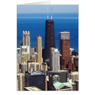 Chicago Skyline and landmarks Card