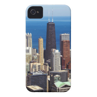 Chicago Skyline and landmarks iPhone 4 Case-Mate Case