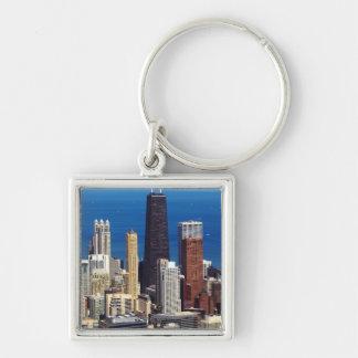 Chicago Skyline and landmarks Key Ring