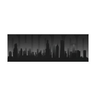 Chicago Skyline Art Print Canvas Prints