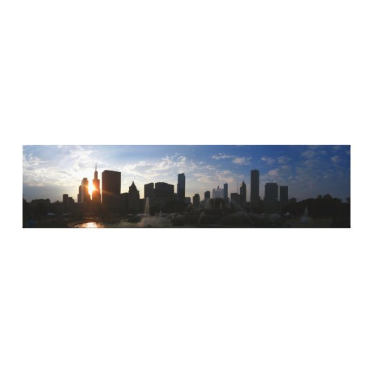 Chicago Skyline at Dusk Canvas Print