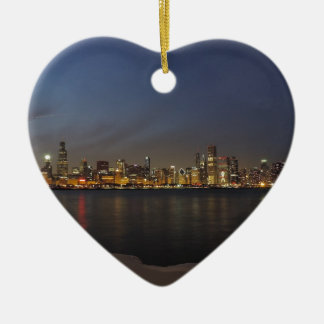 Chicago Skyline at Dusk Christmas Ornament