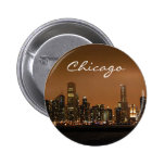 Chicago Skyline at night at Navy Pier Button