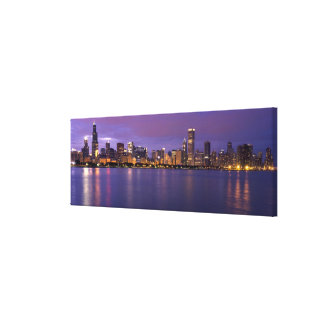 Chicago Skyline Stretched Canvas Print