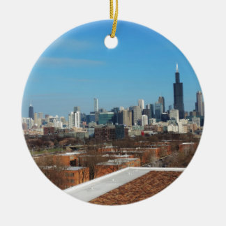 Chicago Skyline Christmas Ornament