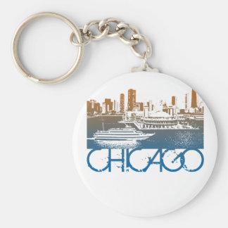 Chicago Skyline Design Key Ring