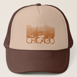 Chicago Skyline Design Trucker Hat