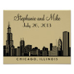 Chicago Skyline Design | Wedding Reception Print