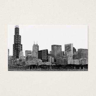 Chicago Skyline Etched