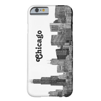 Chicago Skyline Etched Barely There iPhone 6 Case
