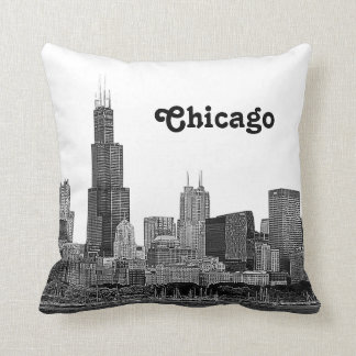 Chicago Skyline Etched Cushion