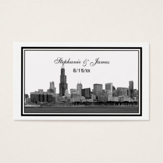 Chicago Skyline Etched Framed Escort Cards