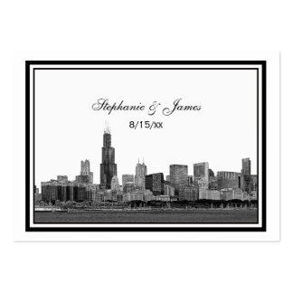 Chicago Skyline Etched Framed Escort Cards #2 Pack Of Chubby Business Cards