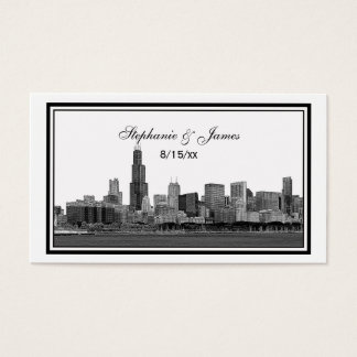 Chicago Skyline Etched Framed Place Cards