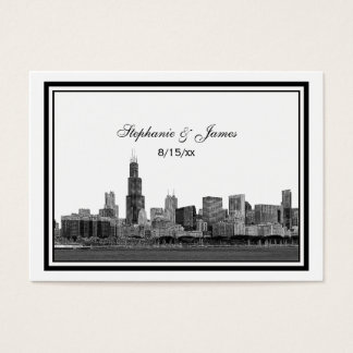 Chicago Skyline Etched Framed Place Cards #2