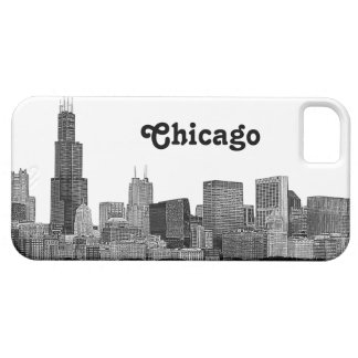 Chicago Skyline Etched iPhone 5 Cover
