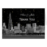 Chicago Skyline Etched Starry DIY BG Thank You