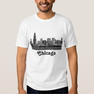 Chicago Skyline Etched Tee Shirt