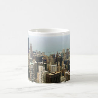 Chicago Skyline from Sears now Willis Tower Basic White Mug