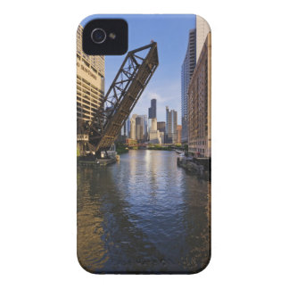 Chicago Skyline from the Kinzie St Bridge Case-Mate iPhone 4 Cases