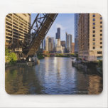 Chicago Skyline from the Kinzie St Bridge Mouse Mat