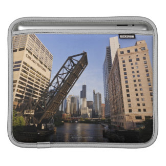 Chicago Skyline from the Kinzie Street Bridge iPad Sleeve