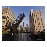 Chicago Skyline from the Kinzie Street Bridge Poster