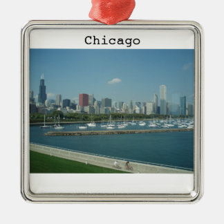 Chicago Skyline Holiday Ornament