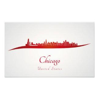 Chicago skyline in network art photo