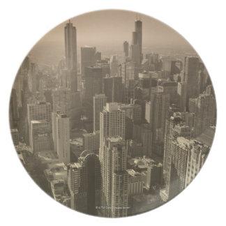 Chicago Skyline, John Hancock Center Skydeck Plate