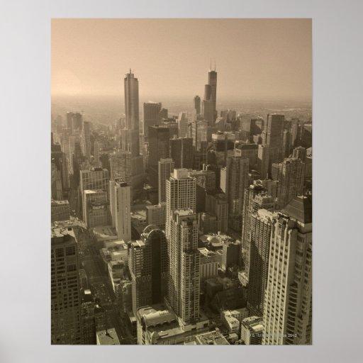 Chicago Skyline, John Hancock Center Skydeck Posters
